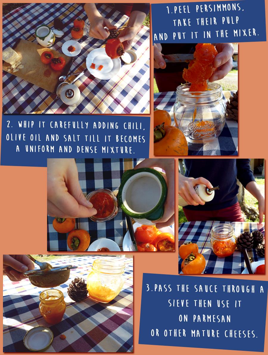 persimmons' sauce preparation