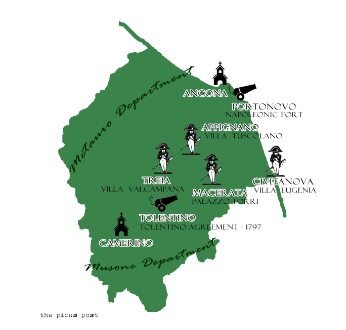 napoleon in macerata and ancona province