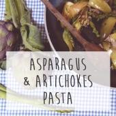 pasta asparagus and artichokes recipe le marche italy