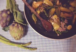 artichokes and asparagus pasta italian recipe le marche