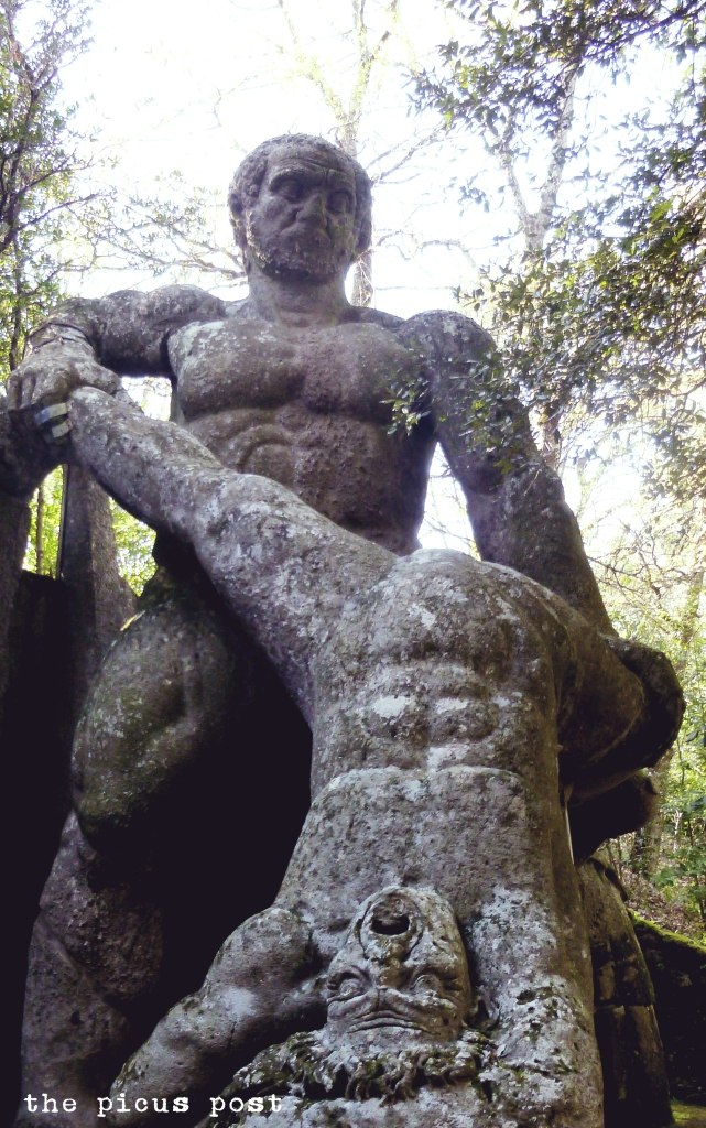dwelling giants bomarzo garden
