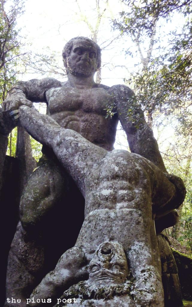 dwelling giants bomarzo garden